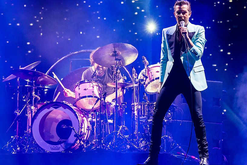"The Killers Honor Fats Domino with ""Ain't That a Shame"" Cover in New Orleans"
