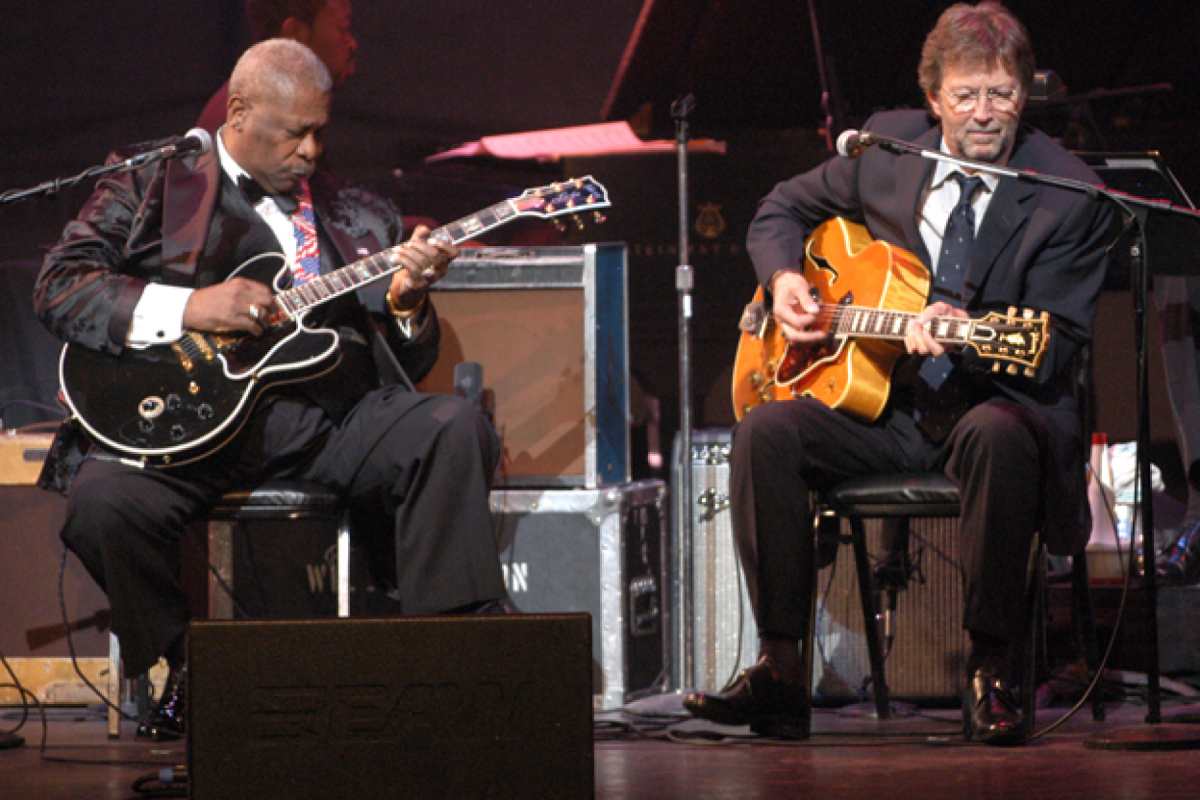 "B.B. King and Eric Clapton Unveil Unreleased ""Rollin' and Tumblin'"" Cover"