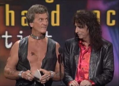 Pat Boone and Alice Cooper